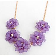 Жен. Ожерелья-цепочки Бижутерия В форме цветка Цветочный дизайн Цветы Цветочный принт Бижутерия Назначение Свадьба Для вечеринок Обручение