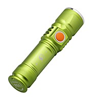 U'King LED Flashlights / Torch LED lm 3 Mode Cree XM-L T6 Adjustable Focus Compact Size Small Size Zoomable for Camping/Hiking/Caving