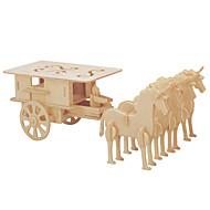 GDS-sæt 3D-puslespil Puslespil Puslespil og logisk tænkning legetøj Legetøjsbiler Legetøj Hestevogn Hest Stridsvogn Herre Dame Børn Ikke