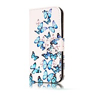 Недорогие Чехлы и кейсы для Galaxy A3(2016)-Кейс для Назначение SSamsung Galaxy A5(2017) A3(2017) Бумажник для карт Кошелек со стендом Флип Магнитный С узором Чехол Бабочка Твердый