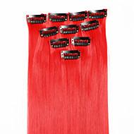 저렴한 -neitsi의 10PCS의 18 인치 컬러 하이라이트 합성 머리 확장 빨강에게에에 클립