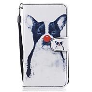 voordelige Galaxy J3(2016) Hoesjes / covers-hoesje Voor Samsung Galaxy J5 (2016) J3 (2016) Kaarthouder Portemonnee met standaard Flip Patroon Volledig hoesje Hond Hard PU-nahka voor