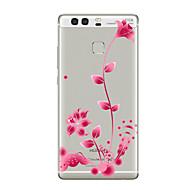 お買い得  携帯電話ケース-ケース 用途 Huawei社P9 / Huawei社P9ライト / Huawei社P8 クリア / パターン バックカバー フラワー ソフト TPU のために P10 Plus / P10 Lite / P10