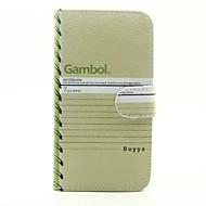 Для Кошелек Бумажник для карт со стендом Флип С узором Кейс для Чехол Кейс для Слова / выражения Твердый Искусственная кожа для SamsungJ5