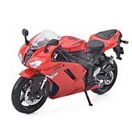 Terugtrekvoertuigen Speelgoedauto's Motorfietsen Speeltjes Automatisch Motorfietsen Metaallegering Metaal Ninja Stuks Unisex Geschenk