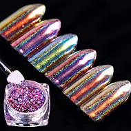 6box Decoración de uñas Las perlas de diamantes de imitación maquillaje cosmético Dise?o de manicura
