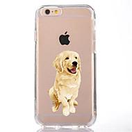 halpa iPhone kotelot-Käyttötarkoitus iPhone X iPhone 8 kotelot kuoret Läpinäkyvä Kuvio Takakuori Etui Koira Pehmeä TPU varten Apple iPhone X iPhone 8 Plus