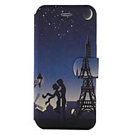 Недорогие Чехлы и кейсы для Galaxy S8 Plus-Кейс для Назначение SSamsung Galaxy S8 Plus S8 Бумажник для карт со стендом Флип С узором Чехол Эйфелева башня Твердый Кожа PU для S8