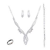 Schmuckset Modisch Euramerican Schmuck Weiß 1 Halskette 1 Paar Ohrringe 1 Armreif Ringe Für Hochzeit Party Alltag Normal 1 Set