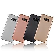 Недорогие Чехлы и кейсы для Galaxy S8-Кейс для Назначение SSamsung Galaxy S8 Plus S8 Покрытие Ультратонкий Задняя крышка Сплошной цвет Мягкий Углеволокно для S8 S8 Plus