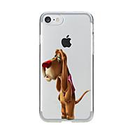 Недорогие Сегодняшнее предложение-Для Прозрачный С узором Кейс для Задняя крышка Кейс для С собакой Мягкий TPU для AppleiPhone 7 Plus iPhone 7 iPhone 6s Plus iPhone 6 Plus