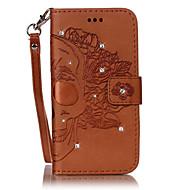 Для Бумажник для карт Стразы со стендом Флип Своими руками Кейс для Чехол Кейс для Череп Твердый Искусственная кожа для HuaweiHuawei P9