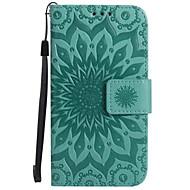 Недорогие Чехлы и кейсы для Galaxy A3(2017)-Кейс для Назначение SSamsung Galaxy A5(2017) A3(2017) Бумажник для карт Кошелек со стендом Флип Рельефный Чехол Цветы Твердый Кожа PU для