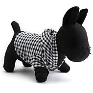 levne -Kočka / Pes mikiny Oblečení pro psy Kostkovaný Černá Bavlna Kostým Pro domácí mazlíčky