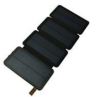 Недорогие Портативные аккумуляторы-Power Bank Внешняя батарея 5V #A Зарядное устройство Подсветка Несколько разъемов Зарядка от солнца LED