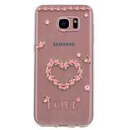 Case Kompatibilitás Samsung Galaxy S8 S7 edge Átlátszó Minta Hátlap Szív Puha TPU mert S8 S7 edge S7 S6 edge S6 S5 Mini S5