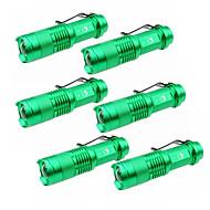U'King LED taskulamput LED 1500 lm 3 Tila Cree XP-E R2 Säädettävä fokus Zoomable varten Telttailu/Retkely/Luolailu Päivittäiskäyttöön