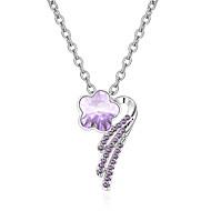 Жен. Ожерелья с подвесками Кристалл В форме цветка Цветочный дизайн Цветы Цветочный принт По заказу покупателя Euramerican Простой стиль