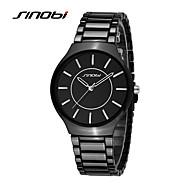 Недорогие Фирменные часы-SINOBI Муж. Модные часы / Нарядные часы Защита от влаги / Ударопрочный сплав Группа Кулоны Черный / Два года / Sony SR626SW
