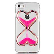 Για Στρας Ρέον υγρό Φτιάξτο Μόνος Σου tok Πίσω Κάλυμμα tok Λάμψη γκλίτερ Κινούμενα σχέδια 3D Μαλακή TPU για AppleiPhone 7 Plus iPhone 7