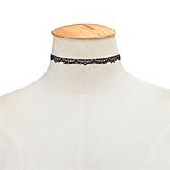 Недорогие $0.99 Модное ювелирное украшение-Жен. Ожерелья-бархатки - Кружево На заказ, европейский, Простой стиль Белый, Черный Ожерелье Назначение Особые случаи, День рождения, Повседневные