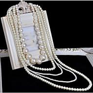 Жен. Слоистые ожерелья Жемчужные ожерелья Крестообразной формы Жемчуг Многослойный Длинный Свадьба бижутерия Бижутерия Назначение Свадьба