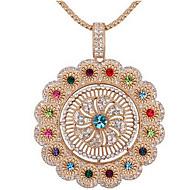 Жен. Ожерелья с подвесками Кристалл В форме цветка Цветочный дизайн Цветы Цветочный принт Мода Euramerican Бижутерия Назначение Свадьба