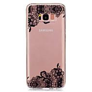 Недорогие Чехлы и кейсы для Galaxy S8 Plus-Кейс для Назначение SSamsung Galaxy S8 Plus / S8 Прозрачный / С узором Кейс на заднюю панель Кружева Печать Мягкий ТПУ для S8 Plus / S8 / S5 Mini