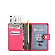 여권 지갑& ID홀더 방수 / 휴대용 / 수화물 악세사리 용 의류 PU 가죽 / 솔리드 남여 공용