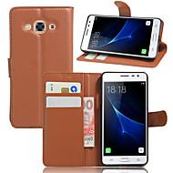 Etui Käyttötarkoitus Samsung Galaxy J7 Prime J5 Prime Lomapkko Korttikotelo Iskunkestävä Tuella Kokonaan peittävä Yhtenäinen väri Kova