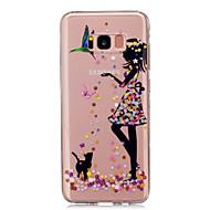 Недорогие Чехлы и кейсы для Galaxy S8-Кейс для Назначение SSamsung Galaxy S8 Plus / S8 IMD / Прозрачный / С узором Кейс на заднюю панель Соблазнительная девушка Мягкий ТПУ для S8 Plus / S8 / S5 Mini