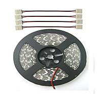 billige LED-stribelys-ZDM® Plant lys stribe 300 lysdioder Blå Rød Chippable Vandtæt Selvklæbende Koblingsbar Jævnstrøm 12V DC 12V