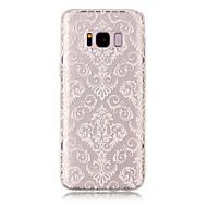 olcso Galaxy S5 tokok-Case Kompatibilitás Samsung Galaxy S8 Plus S8 IMD Átlátszó Minta Hátlap csipke nyomtatás Puha TPU mert S8 S8 Plus S7 edge S7 S6 edge S6 S5