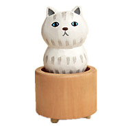 cheap Toys & Hobbies-Music Box Toys Cat Wood Rubber Pieces Unisex Gift