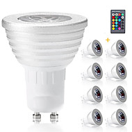 8pcs 3W RGB Color E14/GU10/GU5.3/E27 LED Spotlight Dimmable with Remote-Controlled Decorative AC85-265V