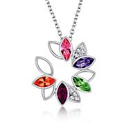 Жен. Ожерелья с подвесками Бижутерия В форме цветка Цветочный дизайн Цветы Цветочный принт Мода По заказу покупателя Euramerican Бижутерия
