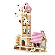 billiga -3D-pussel Pinnpussel Modellbyggset Känd byggnad Kinesisk arkitektur Kul Trä Klassisk Barn Unisex Leksaker Present