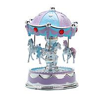 preiswerte Spielzeuge & Spiele-Spieluhr Karusell Frohe Runde gehen Niedlich Beleuchtung Kunststoff Europäischer Stil Kinder Erwachsene Unisex Spielzeuge Geschenk