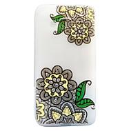 Для Стразы Сияние в темноте Матовое Полупрозрачный С узором Кейс для Задняя крышка Кейс для Кружевной дизайн Цветы Мягкий TPU для Samsung