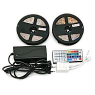 z®zdm防水2×5m 300x3528 smd rgb ledストリップライトと44keyリモコン6a eu / au / us / uk電源(ac110-240v)