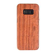 Недорогие Чехлы и кейсы для Galaxy S8-Кейс для Назначение SSamsung Galaxy Защита от удара Кейс на заднюю панель Имитация дерева Твердый деревянный для S8
