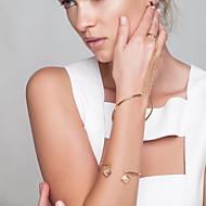 Női Lánc & láncszem karkötők Gyűrű karkötők Ékszerek Divat Réz Arany Ezüst Ékszerek Mert Parti Különleges alkalom 1db