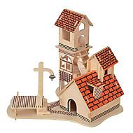 billiga -3D-pussel Känd byggnad Kinesisk arkitektur Kul Trä Klassisk Barn Unisex Leksaker Present