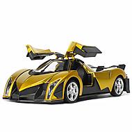 voordelige -Speelgoedauto's Speeltjes Racewagen Speeltjes Muziek en licht Automatisch Metaal Stuks Unisex Geschenk