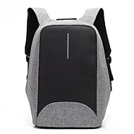 15.6 inch Laptop Stitching Business Waterproof Nylon Cloth with USB Charging Port notebook Bag  Backpack for   Dell/HP/Lenovo/Sony/Acer/Surface etc
