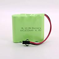 Ni-Mh Battery 1800Mah Aa 4.8V Sm Head High Quality   (Green Color)