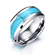 Men's Ring - Personalized, Basic, Simple Style 7 / 8 / 9 / 10 / 11 Blue For Party Anniversary Birthday