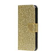 Недорогие Чехлы и кейсы для Galaxy S8-Кейс для Назначение SSamsung Galaxy S8 S7 edge Бумажник для карт Кошелек со стендом Флип Чехол Сияние и блеск Твердый Кожа PU для S8 S7