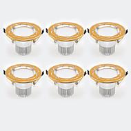 cheap -6Pcs Yangming3W 30006000K Warm White Cool White LED Canister Light (85-265V)  004