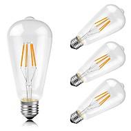 4W E26/E27 LED Λάμπες Πυράκτωσης ST64 4 COB 400 lm Θερμό Λευκό κ Διακοσμητικό AC 220-240 V
